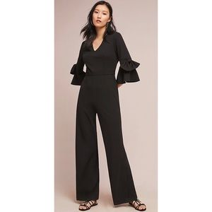 Anthropologie Donna Morgan Bell-Sleeve Jumpsuit